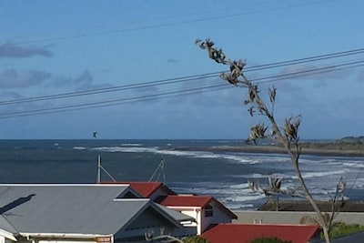 Fitzroy Surf Beach from front deck