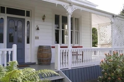 Front of the villa with wrap around verandah