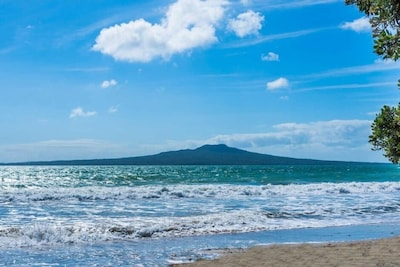 View of Rangitoto from the end of your street