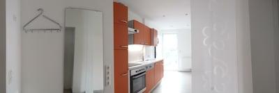 Ferienwohnung Niemann 3 - große Küche mit Terrasse