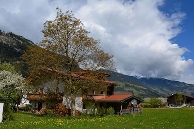 Ahornbahn-skilift, Mayrhofen, Tirol, Oostenrijk