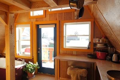 A quaint and cozy interior