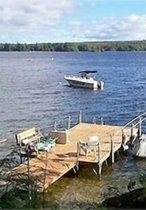 Large dock and swim area