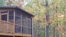 Enjoy the beautiful colors of Fall from the deck or porch!