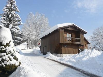 Bossonnet-skilift, La Clusaz, Haute-Savoie (departement), Frankrijk