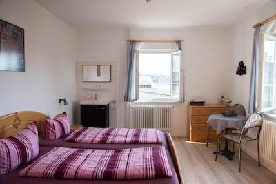 Wohnung 1,  37qm, Terrasse, 1 Schlafzimmer, max. 3 Personen
