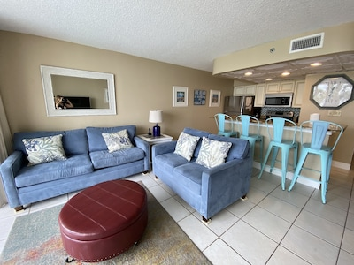 Kick back and relax in our spacious and chic living room!