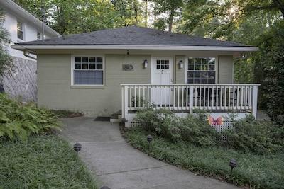 The bungalow is on a quiet street in Midtown's Piedmont Heights neighborhood.