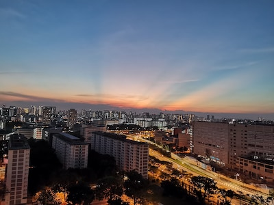 View of Sunset from Roof Sky Park