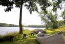 Canoe for use on lake