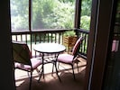 Relax here and enjoy the views and Deer without the bugs bothering you