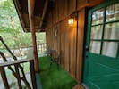 Front door to cabin.