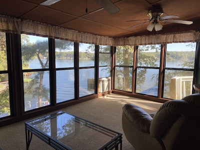 Lake view from sunroom