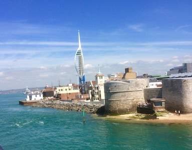 Enjoy exploring old Portsmouth, the Spinnaker Tower or Gun Wharf Quays