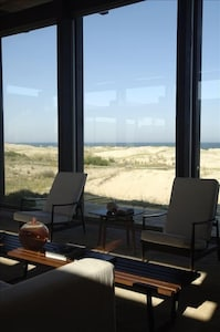 Living Room with views of the dunes and of the sea