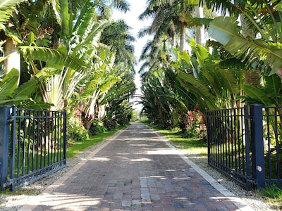 Gated entry to Grace River Island Resort