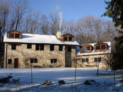 Combining Stone, Colonial and Organic Architecture; finished with PA hardwood