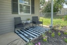 Enjoy mornings on the front porch in the new patio chairs