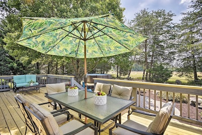 Stay just 20 minutes outside of Greensboro at this 1-acre Browns Summit home!