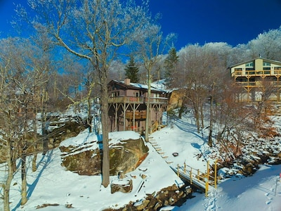 View of the house from the ski slopes