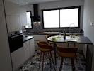Cuisine 10 m2 avec frigidaire lave vaiselle congélateur four micro onde hotte