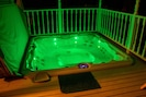 Newly installed in deck hot tub.