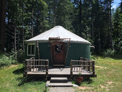 Yurt With Sauna Treehouse Set In The Redwoods Meadows At Private Family Farm Fieldbrook