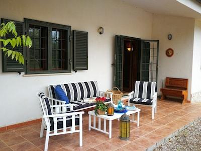 Enjoy a sunset drink on the terrace