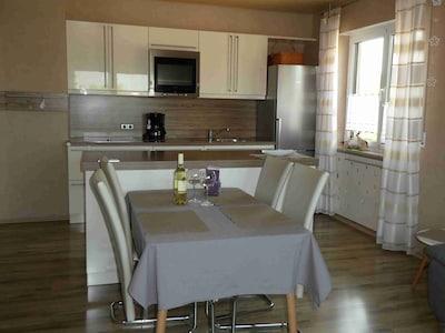 Ferienwohnung 1-Wohnbereich & Küche