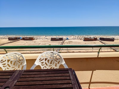large balcony with sea beach view (270 degrees view)