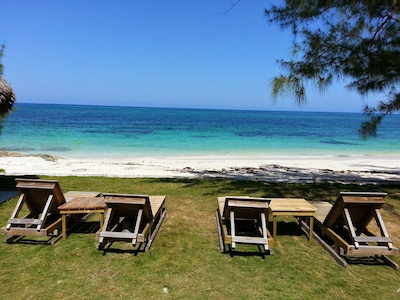 enjoy the beautiful breeze and relax on the beachfront loungers