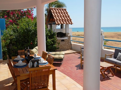 Patio direct to beach