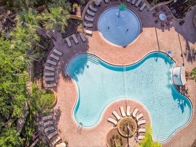Year-round heated swimming pool with loungers and umbrellas!