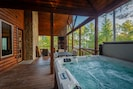 Have a dip in the hot tub while listening to music on Sonos WiFi speakers!