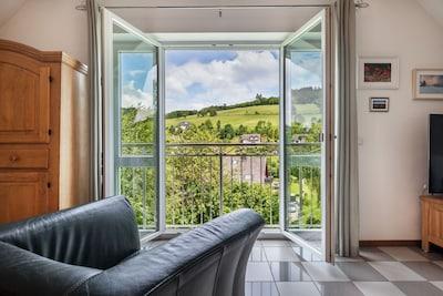 Toller Ausblick am französischem Balkon im OG
