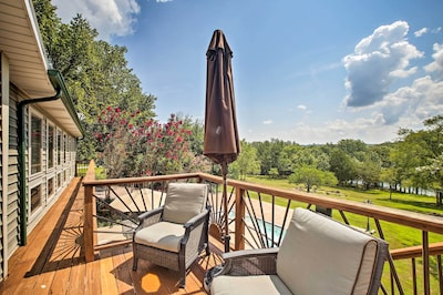 Along with a private yard, the vacation rental boasts a deck.