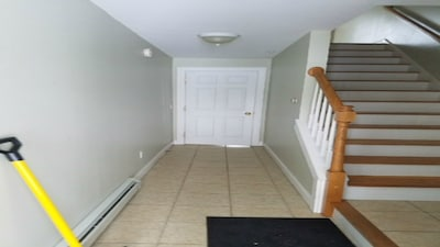 front entrance straight into Bd 3-Steps up to living rm & kitchen