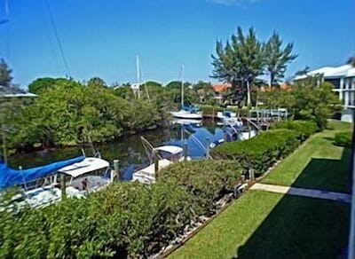 View of canal from condo