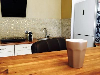 Blick in die Küche ..