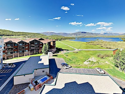 Exterior  - Take in the fresh alpine air and majestic views of Lake Dillon from your balcony.