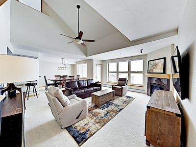 Living Room - Welcome to Frisco! This penthouse condo is professionally managed by TurnKey Vacation Rentals.