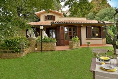 Villa Con Piscina Giardino Recintato E Bellissima Vista Mare Casale Marittimo