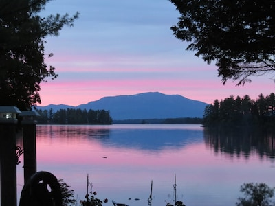 View of MT Katahdin from the lake
