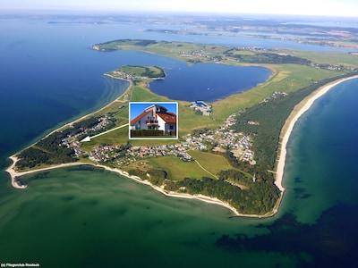 5 Sterne Ferienwohnung auf Rügen Strand 200m entfernt mit WLAN Kamin Sky
