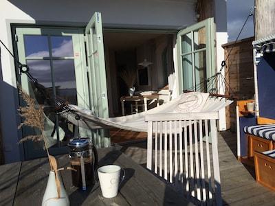 Abhängen auf der Terrasse in Captains-Deck
