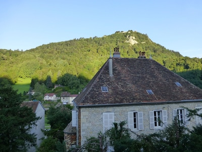 Amazing light and view of Fort Saint-André, from both living room windows