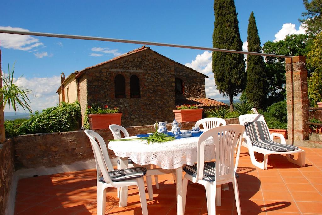 Location de vacances - Romeo, appartement bien entretenu dans une villa,  jardin, à 10 km de la mer - Gavorrano