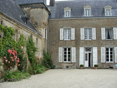 Front door to chateau