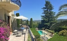 Luxury Mougins villa rental with 3 ensuite bedrooms and private, heated pool