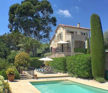 Poolside at a Villa Oleander in Mougins